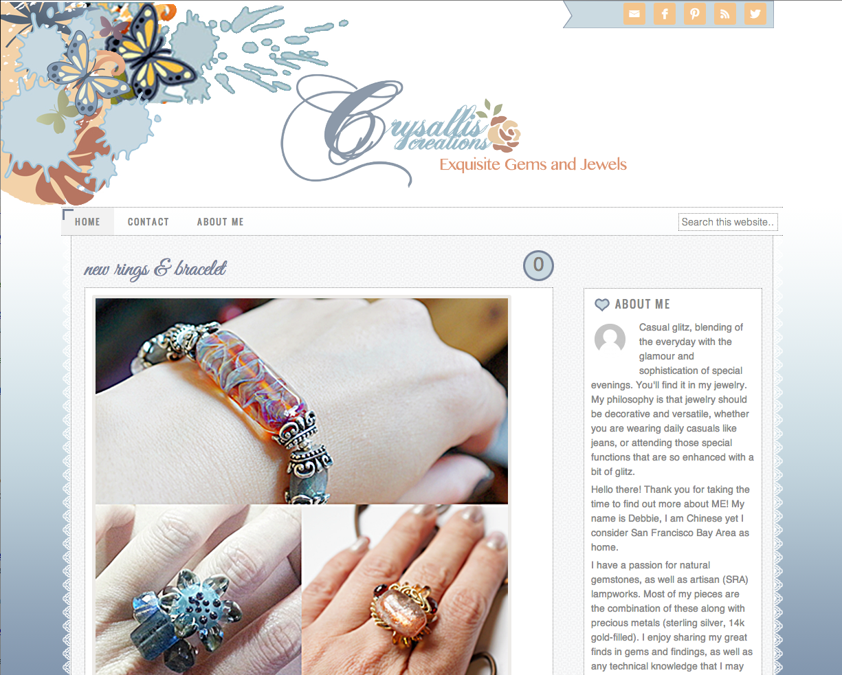 Crysallis Creations - WordPress